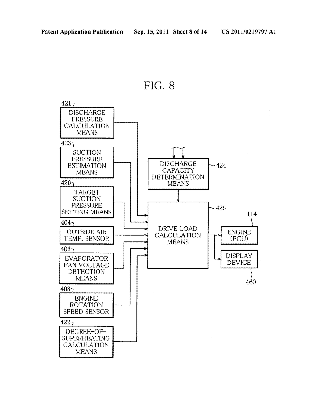 Capacity Control System for Variable Capacity Compressor and Display     Device for the System - diagram, schematic, and image 09