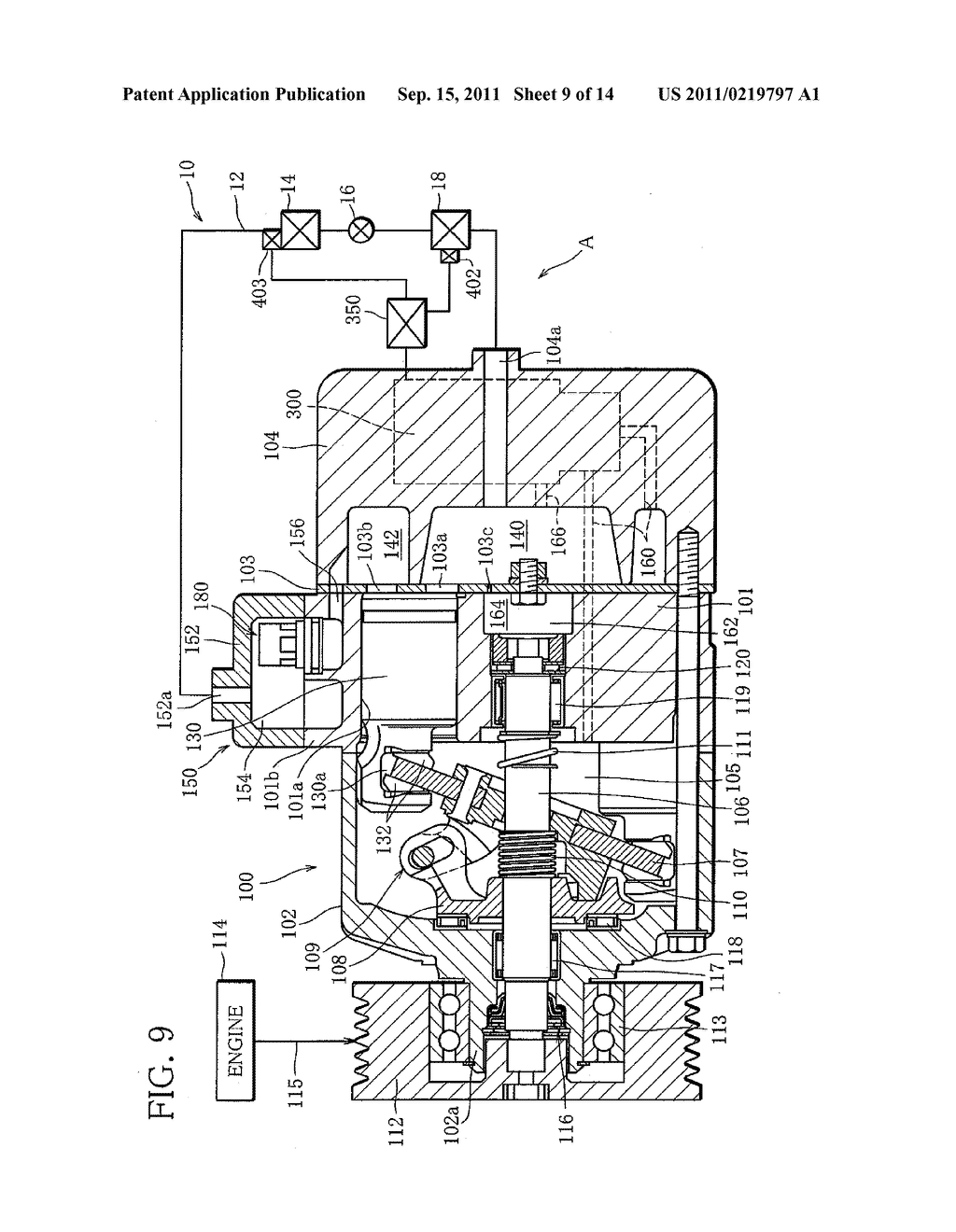 Capacity Control System for Variable Capacity Compressor and Display     Device for the System - diagram, schematic, and image 10