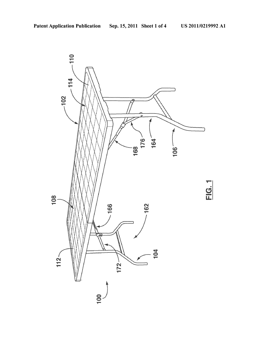 FOLDING TABLE - diagram, schematic, and image 02Patents