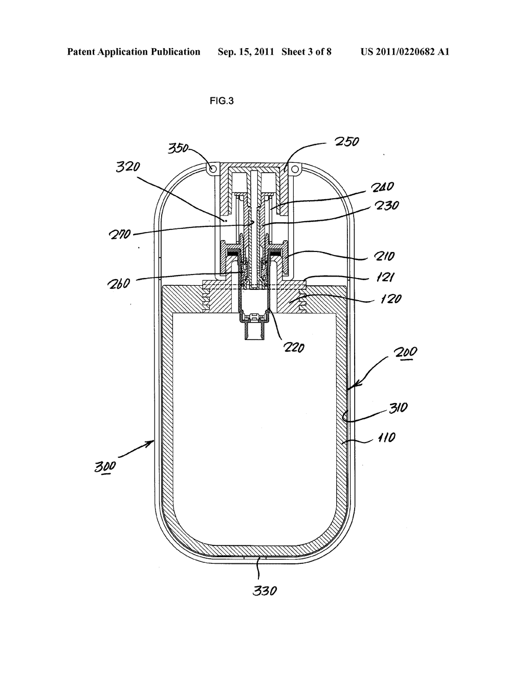 OPENABLE COSMETIC CASE OF DUAL STRUCTURE PROTECTING TUBE - diagram, schematic, and image 04