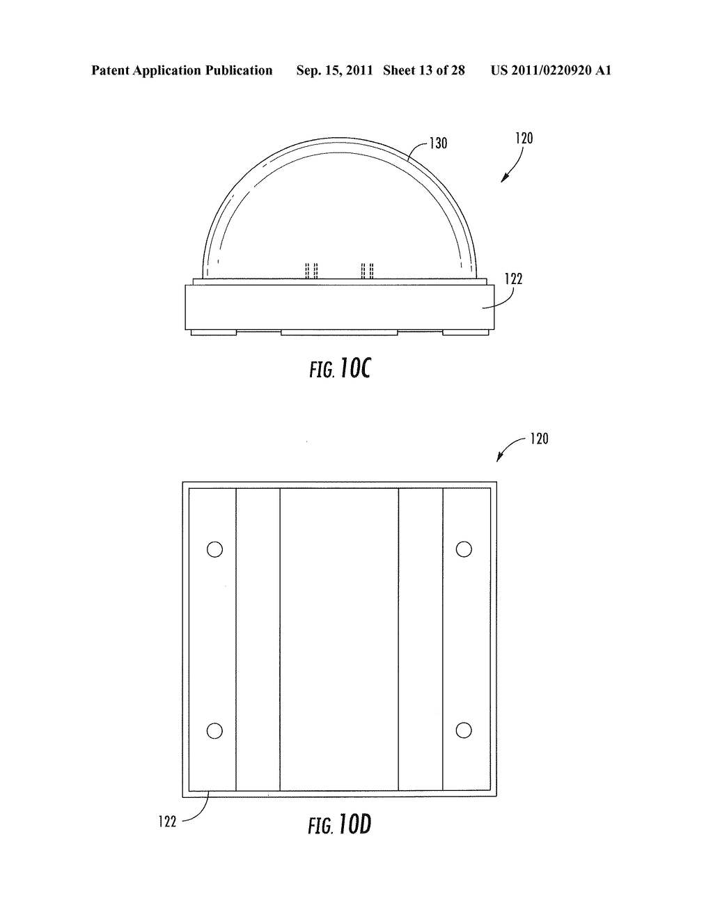 METHODS OF FORMING WARM WHITE LIGHT EMITTING DEVICES HAVING HIGH COLOR     RENDERING INDEX VALUES AND RELATED LIGHT EMITTING DEVICES - diagram, schematic, and image 14