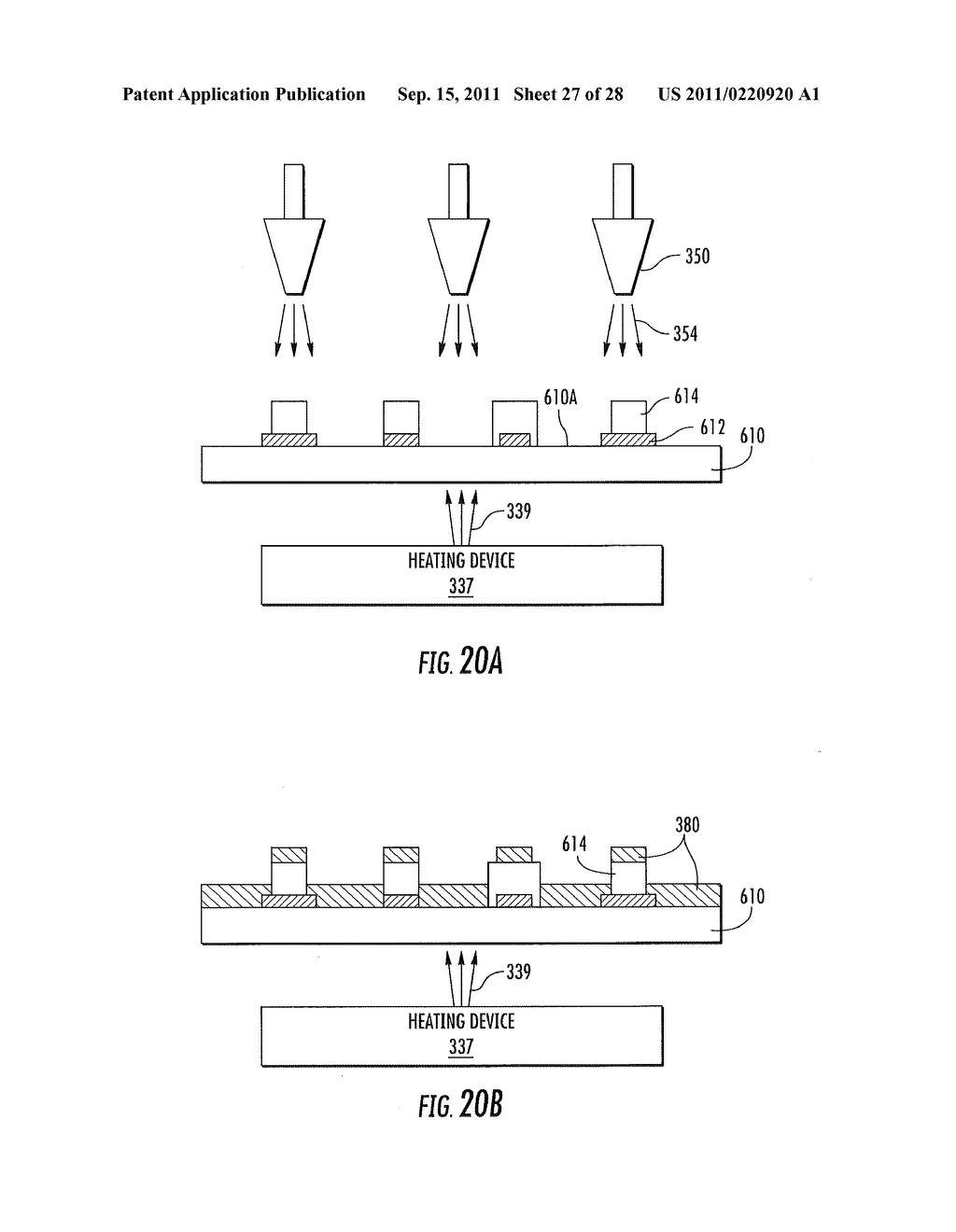 METHODS OF FORMING WARM WHITE LIGHT EMITTING DEVICES HAVING HIGH COLOR     RENDERING INDEX VALUES AND RELATED LIGHT EMITTING DEVICES - diagram, schematic, and image 28
