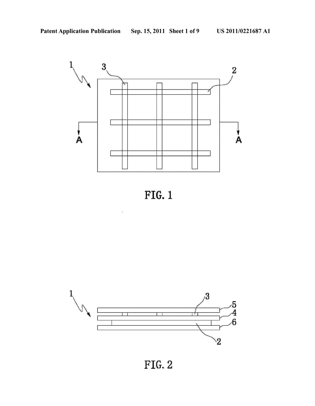 ELECTRODE PATTERN STRUCTURE OF A CAPACITIVE TOUCH PANEL AND METHOD OF     MANUFACTURING THE SAME - diagram, schematic, and image 02