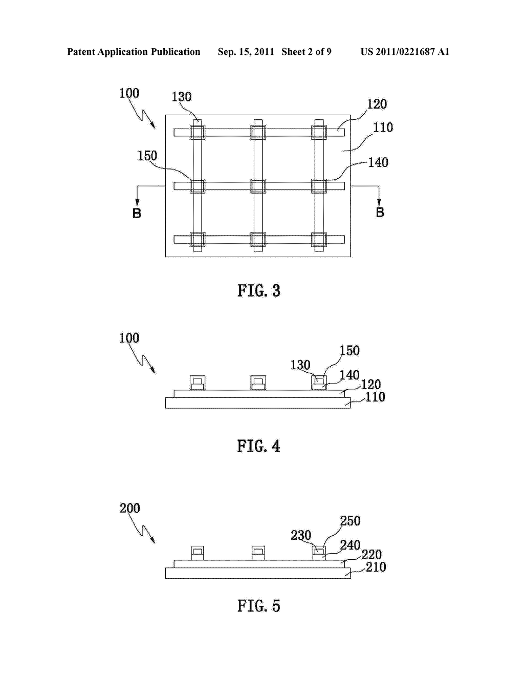 ELECTRODE PATTERN STRUCTURE OF A CAPACITIVE TOUCH PANEL AND METHOD OF     MANUFACTURING THE SAME - diagram, schematic, and image 03