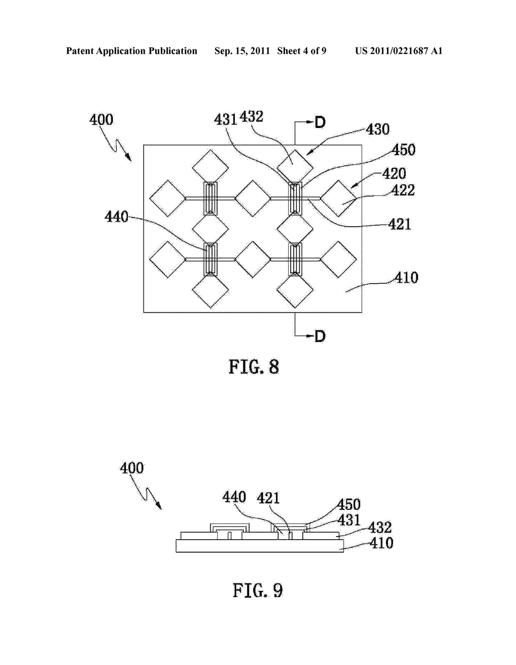 ELECTRODE PATTERN STRUCTURE OF A CAPACITIVE TOUCH PANEL AND METHOD OF     MANUFACTURING THE SAME - diagram, schematic, and image 05