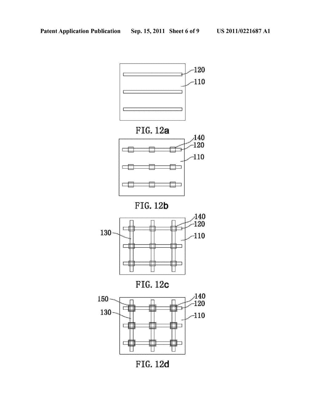 ELECTRODE PATTERN STRUCTURE OF A CAPACITIVE TOUCH PANEL AND METHOD OF     MANUFACTURING THE SAME - diagram, schematic, and image 07