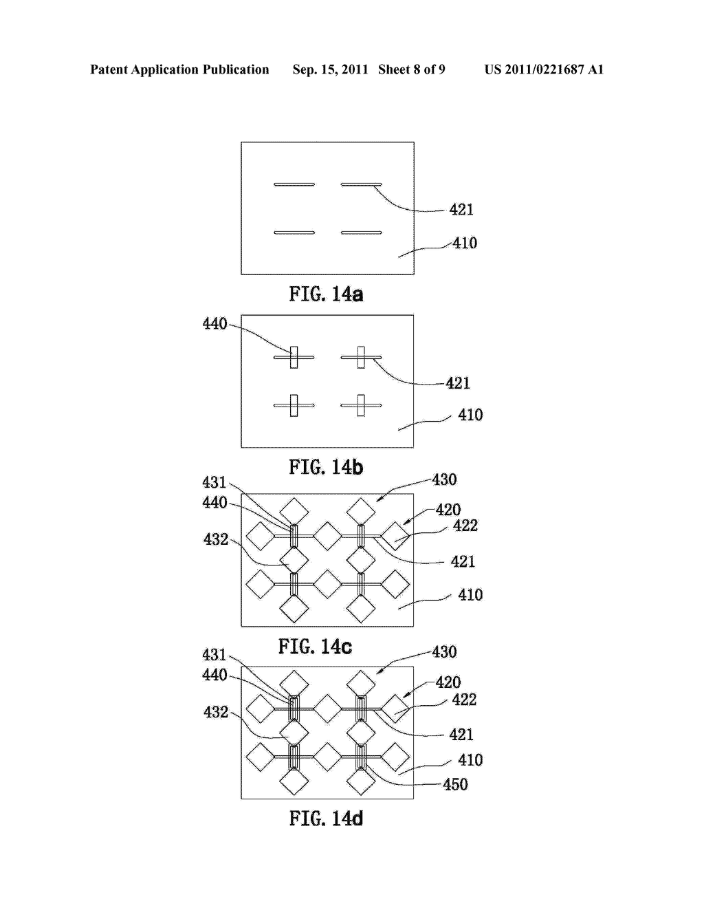 ELECTRODE PATTERN STRUCTURE OF A CAPACITIVE TOUCH PANEL AND METHOD OF     MANUFACTURING THE SAME - diagram, schematic, and image 09