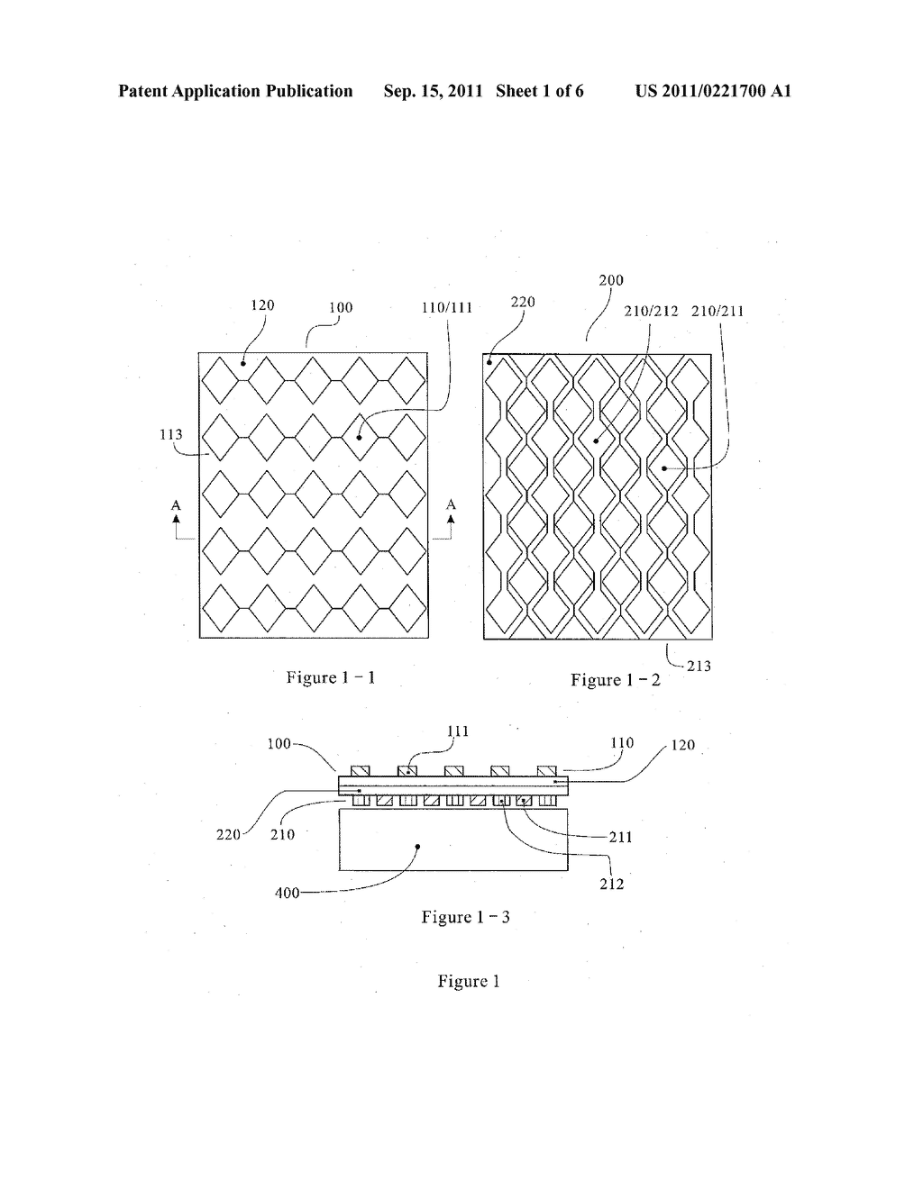 MUTUAL CAPACITANCE TOUCH SCREEN WITH ELECTRODES ARRANGED ON DUAL     CONDUCTIVE MATERIAL FILMS - diagram, schematic, and image 02