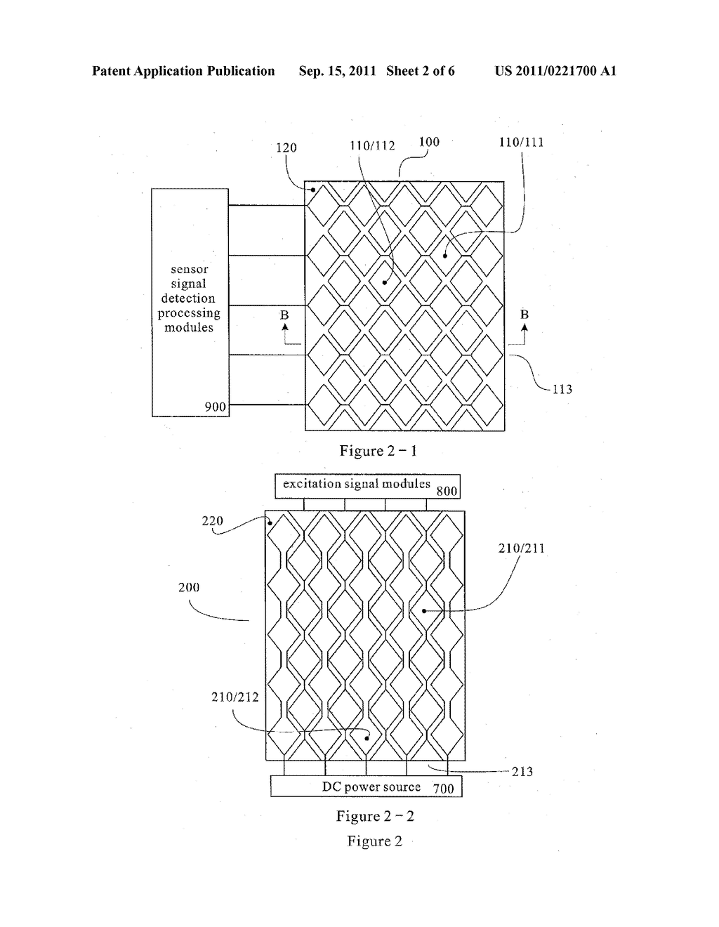 MUTUAL CAPACITANCE TOUCH SCREEN WITH ELECTRODES ARRANGED ON DUAL     CONDUCTIVE MATERIAL FILMS - diagram, schematic, and image 03