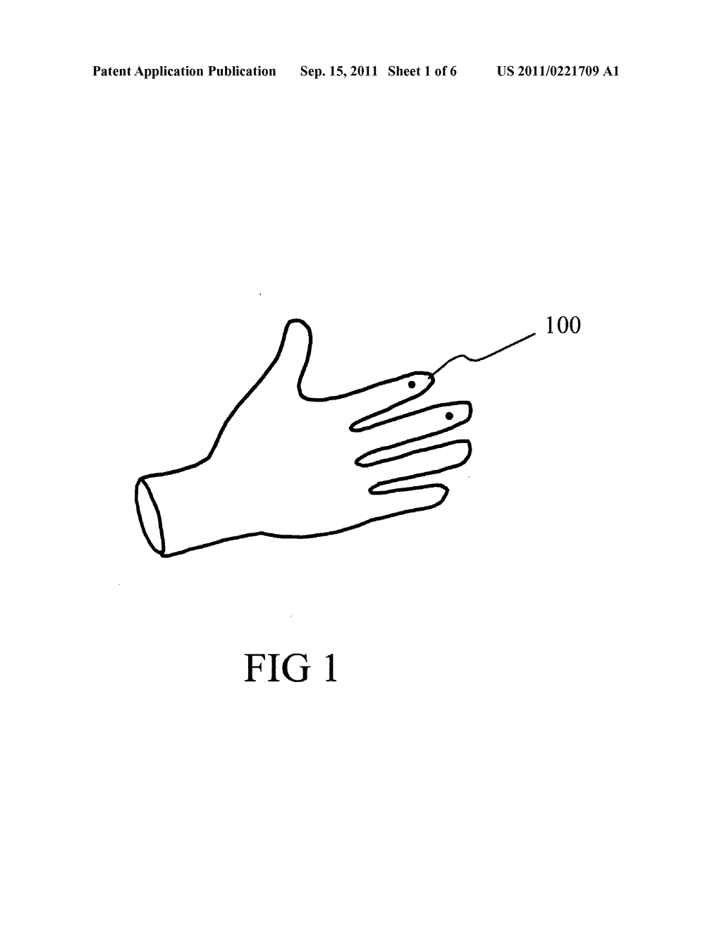 Electrically Conductive Accessory System for Non-Electrically Conductive     Glove - diagram, schematic, and image 02