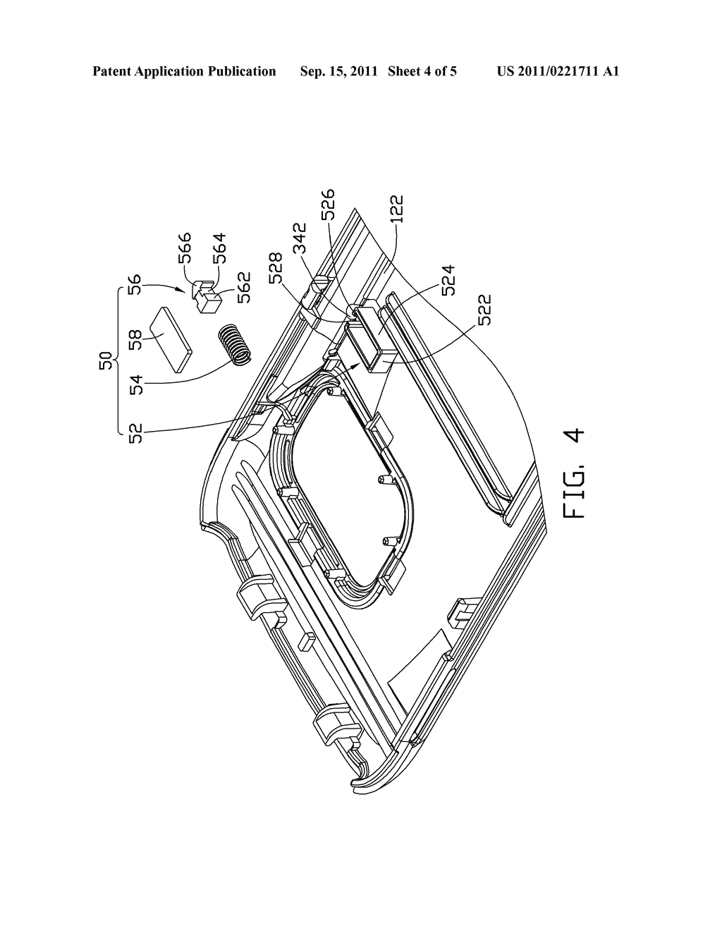 STYLUS HOLDING MECHANISM AND PORTABLE ELECTRONIC DEVICE UTILIZING THE SAME - diagram, schematic, and image 05