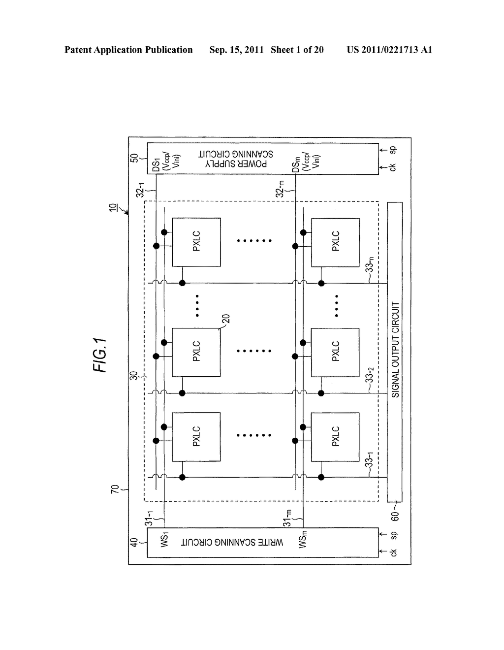 DISPLAY DEVICE, DRIVING METHOD OF DISPLAY DEVICE AND ELECTRONIC APPARATUS - diagram, schematic, and image 02