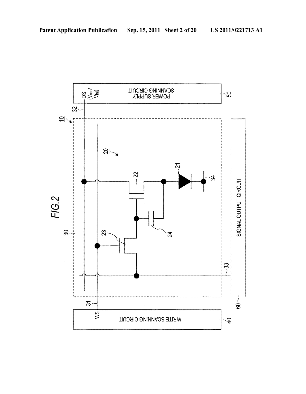 DISPLAY DEVICE, DRIVING METHOD OF DISPLAY DEVICE AND ELECTRONIC APPARATUS - diagram, schematic, and image 03