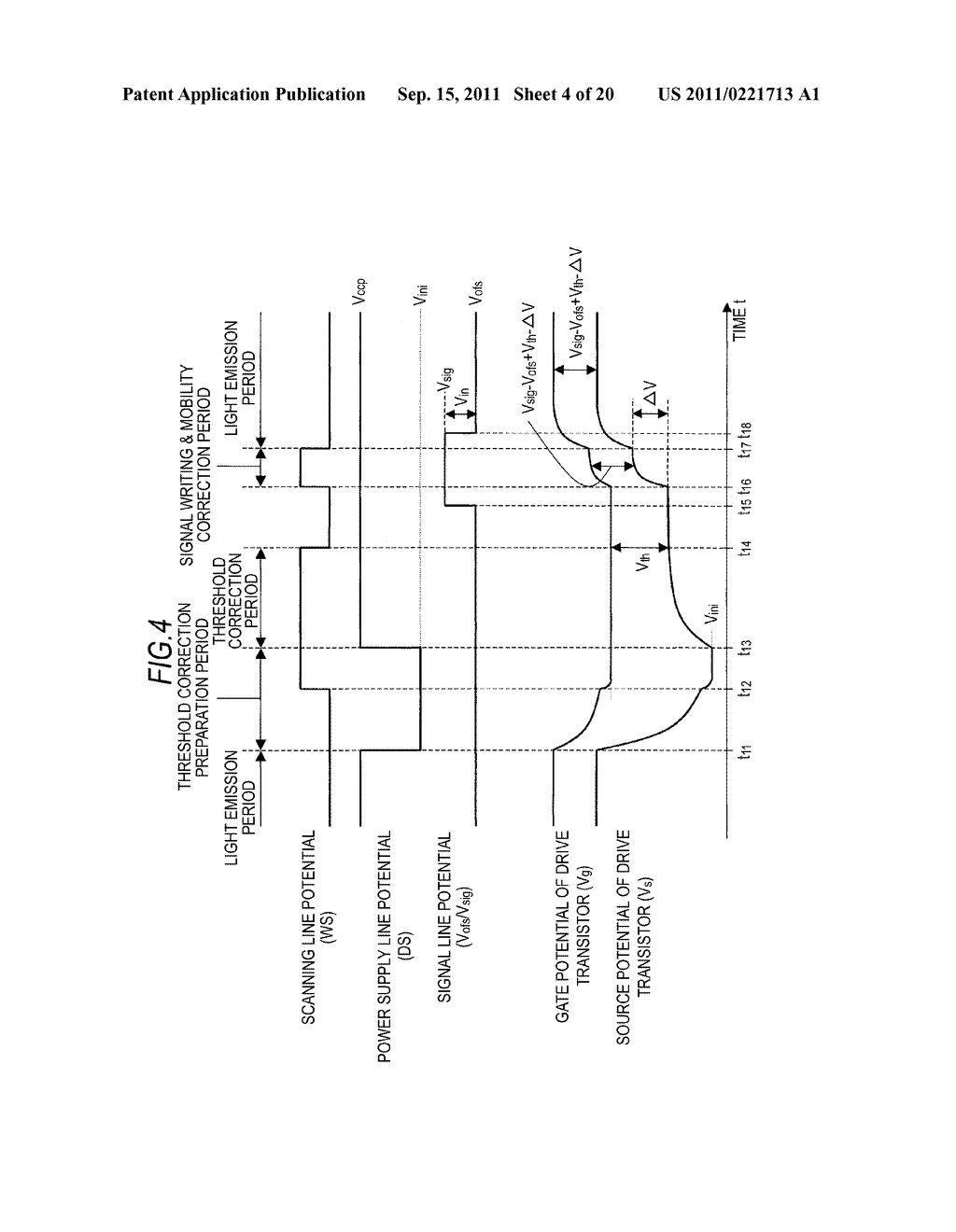 DISPLAY DEVICE, DRIVING METHOD OF DISPLAY DEVICE AND ELECTRONIC APPARATUS - diagram, schematic, and image 05