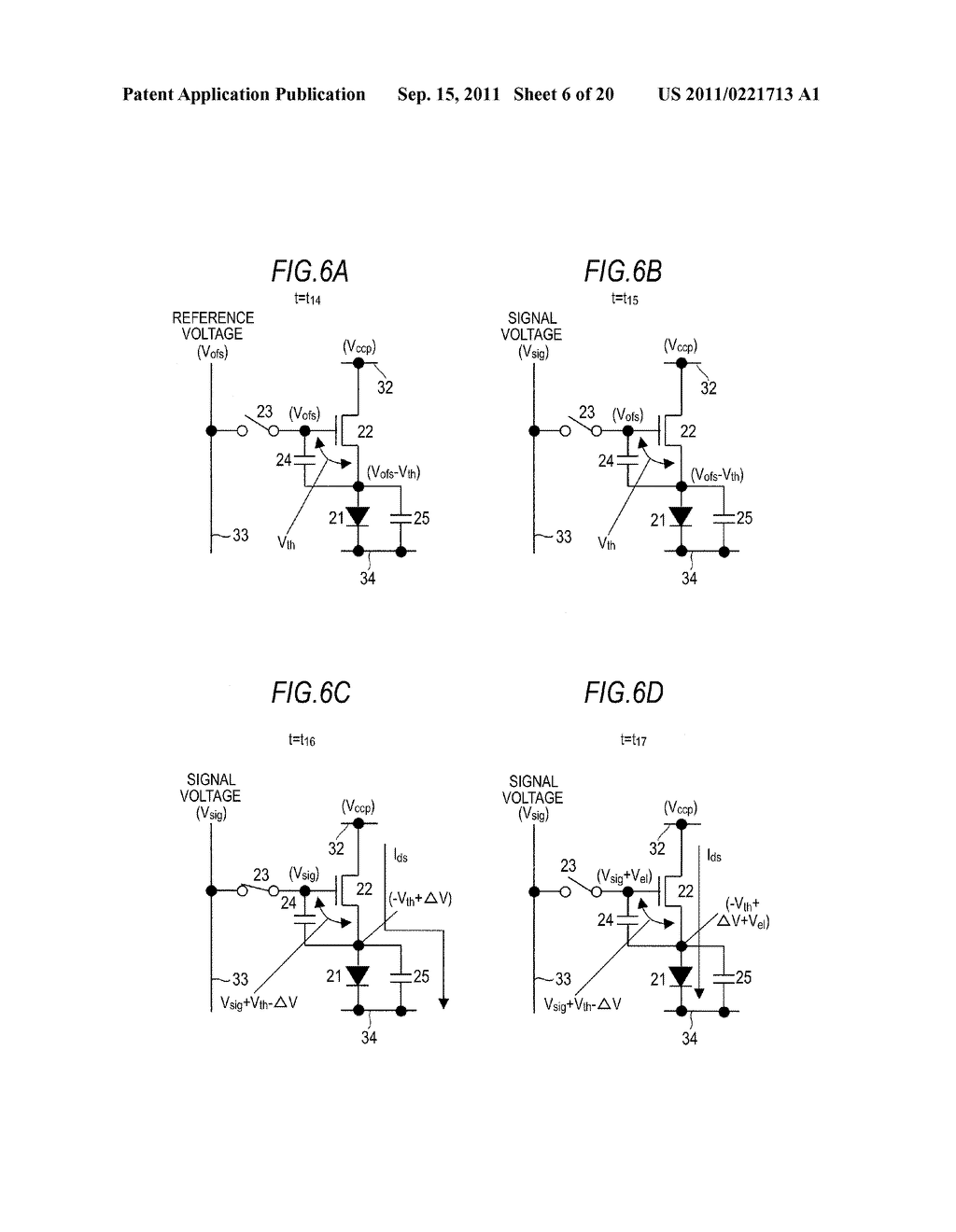 DISPLAY DEVICE, DRIVING METHOD OF DISPLAY DEVICE AND ELECTRONIC APPARATUS - diagram, schematic, and image 07