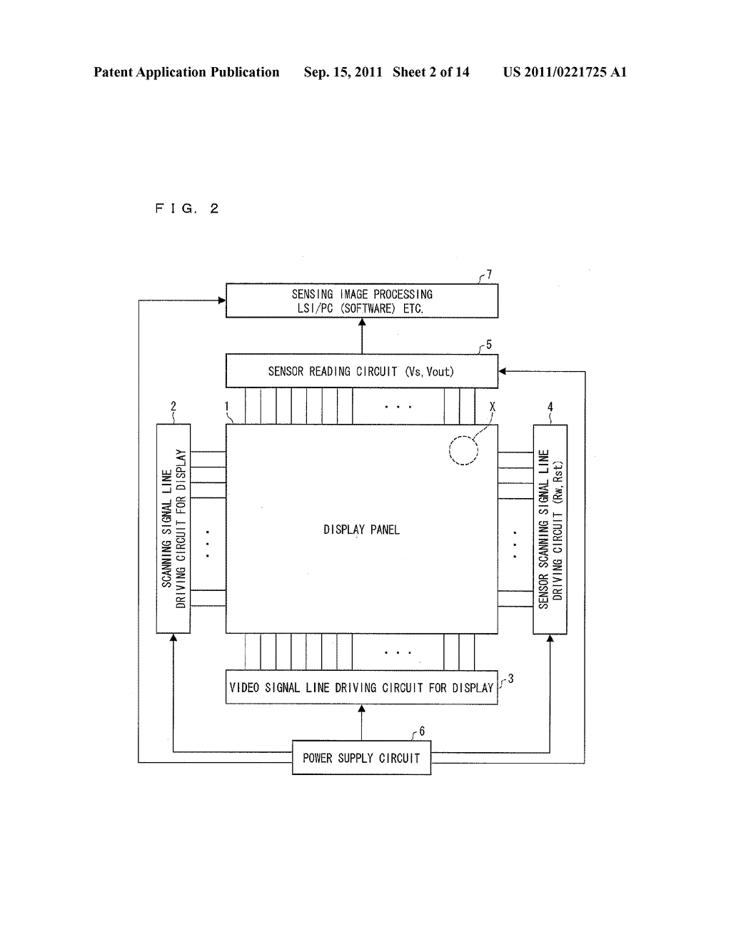 TWO-DIMENSIONAL SENSOR ARRAY, DISPLAY DEVICE, AND ELECTRONICS DEVICE - diagram, schematic, and image 03