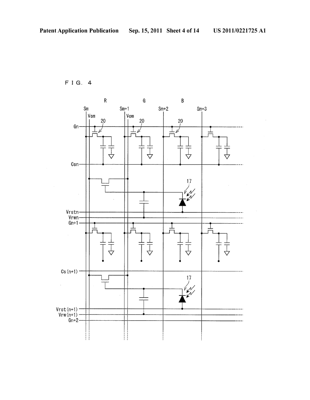 TWO-DIMENSIONAL SENSOR ARRAY, DISPLAY DEVICE, AND ELECTRONICS DEVICE - diagram, schematic, and image 05