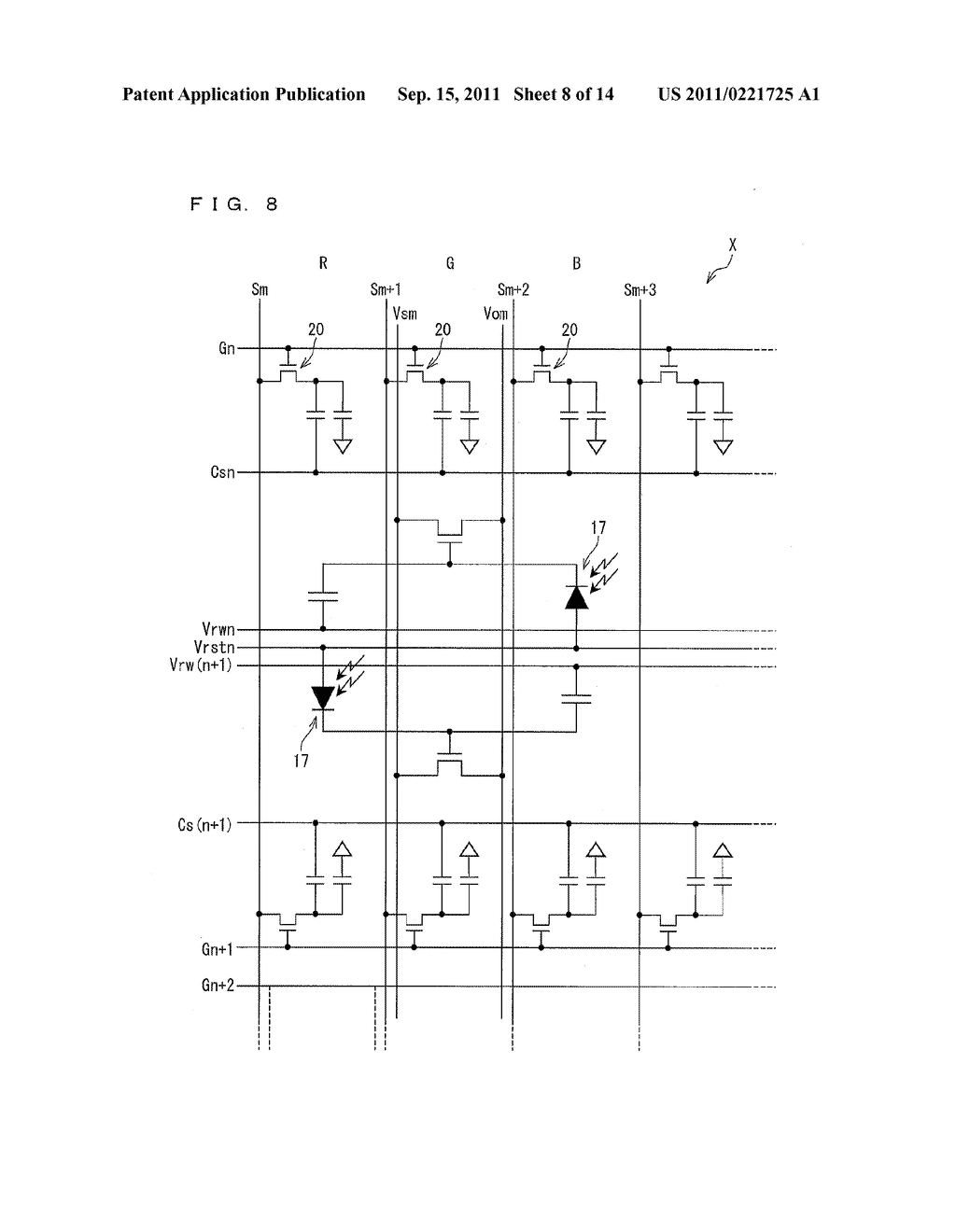 TWO-DIMENSIONAL SENSOR ARRAY, DISPLAY DEVICE, AND ELECTRONICS DEVICE - diagram, schematic, and image 09