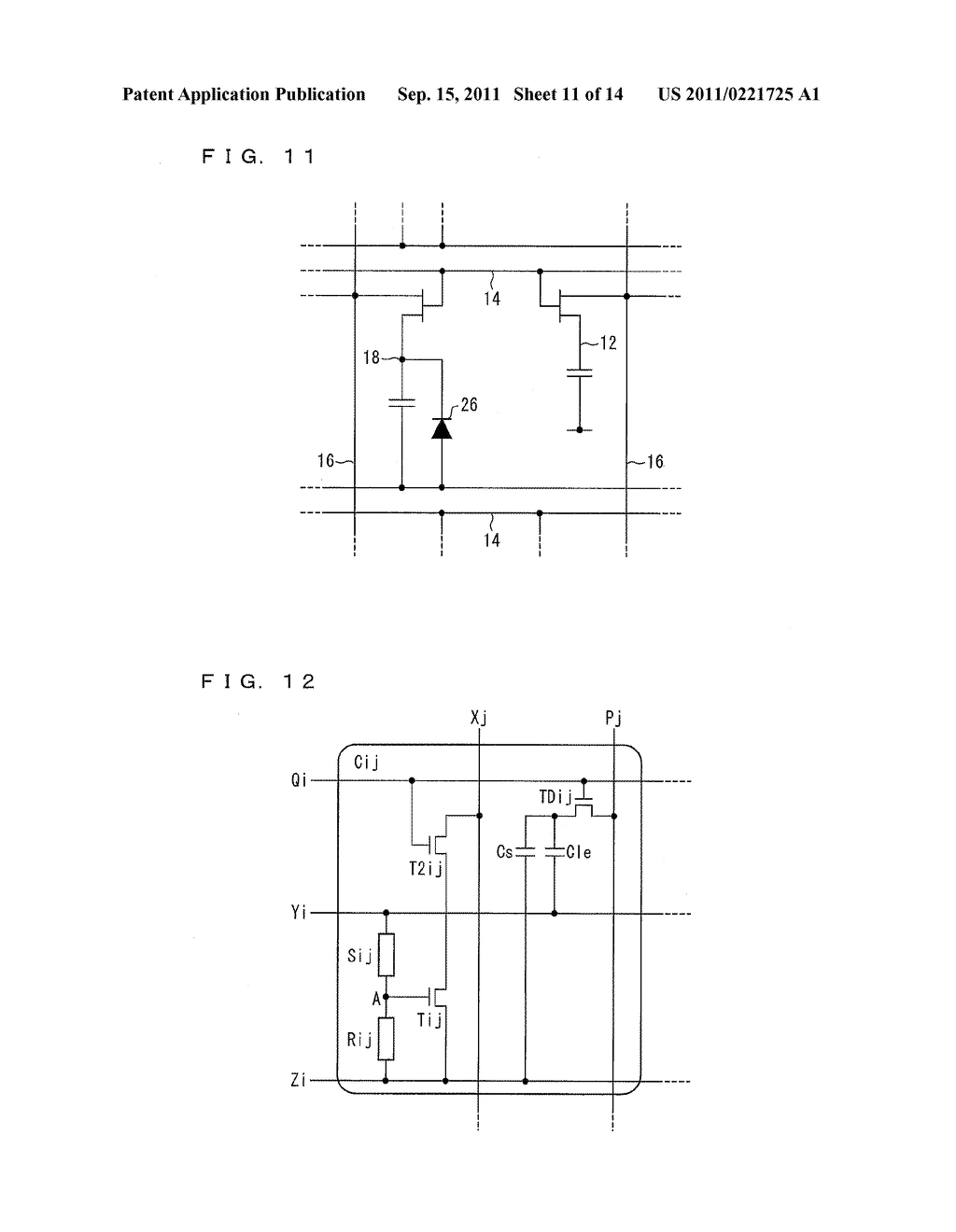 TWO-DIMENSIONAL SENSOR ARRAY, DISPLAY DEVICE, AND ELECTRONICS DEVICE - diagram, schematic, and image 12