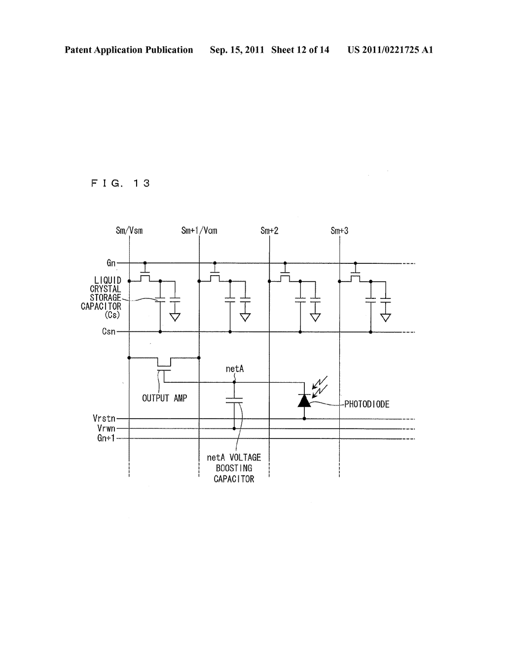 TWO-DIMENSIONAL SENSOR ARRAY, DISPLAY DEVICE, AND ELECTRONICS DEVICE - diagram, schematic, and image 13