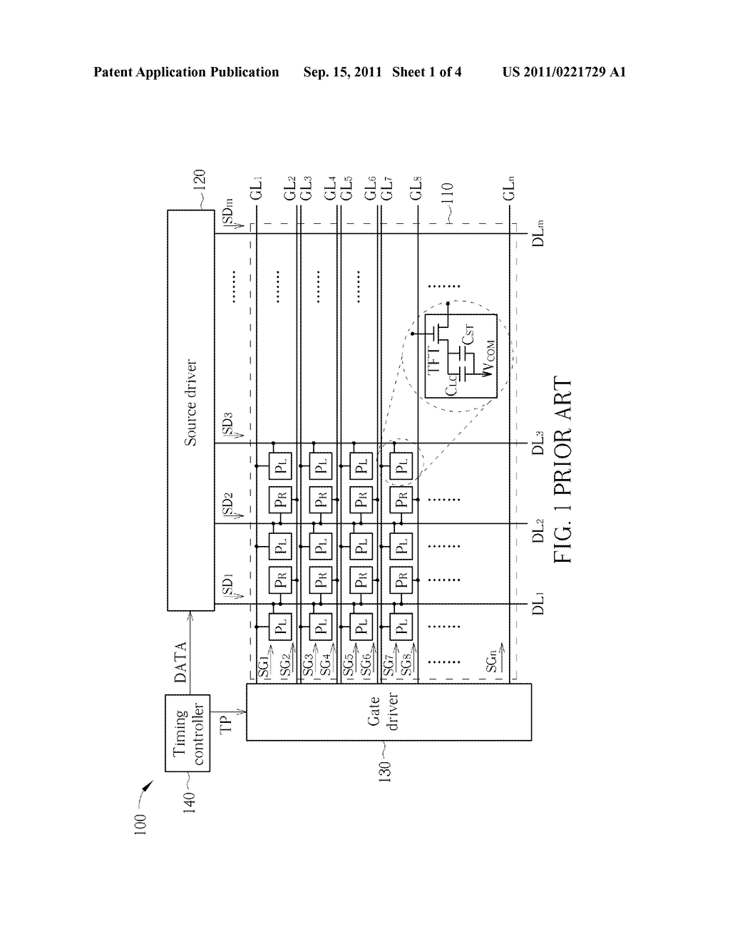 DOUBLE-GATE LIQUID CRYSTAL DISPLAY DEVICE AND RELATED DRIVING METHOD - diagram, schematic, and image 02