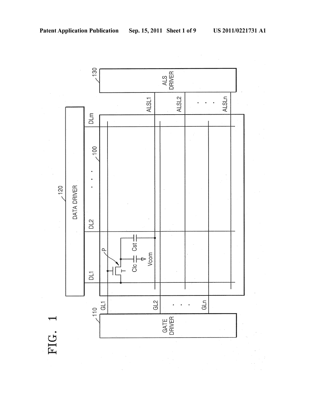 DISPLAY DEVICE HAVING INCREASED APERTURE RATIO - diagram, schematic, and image 02