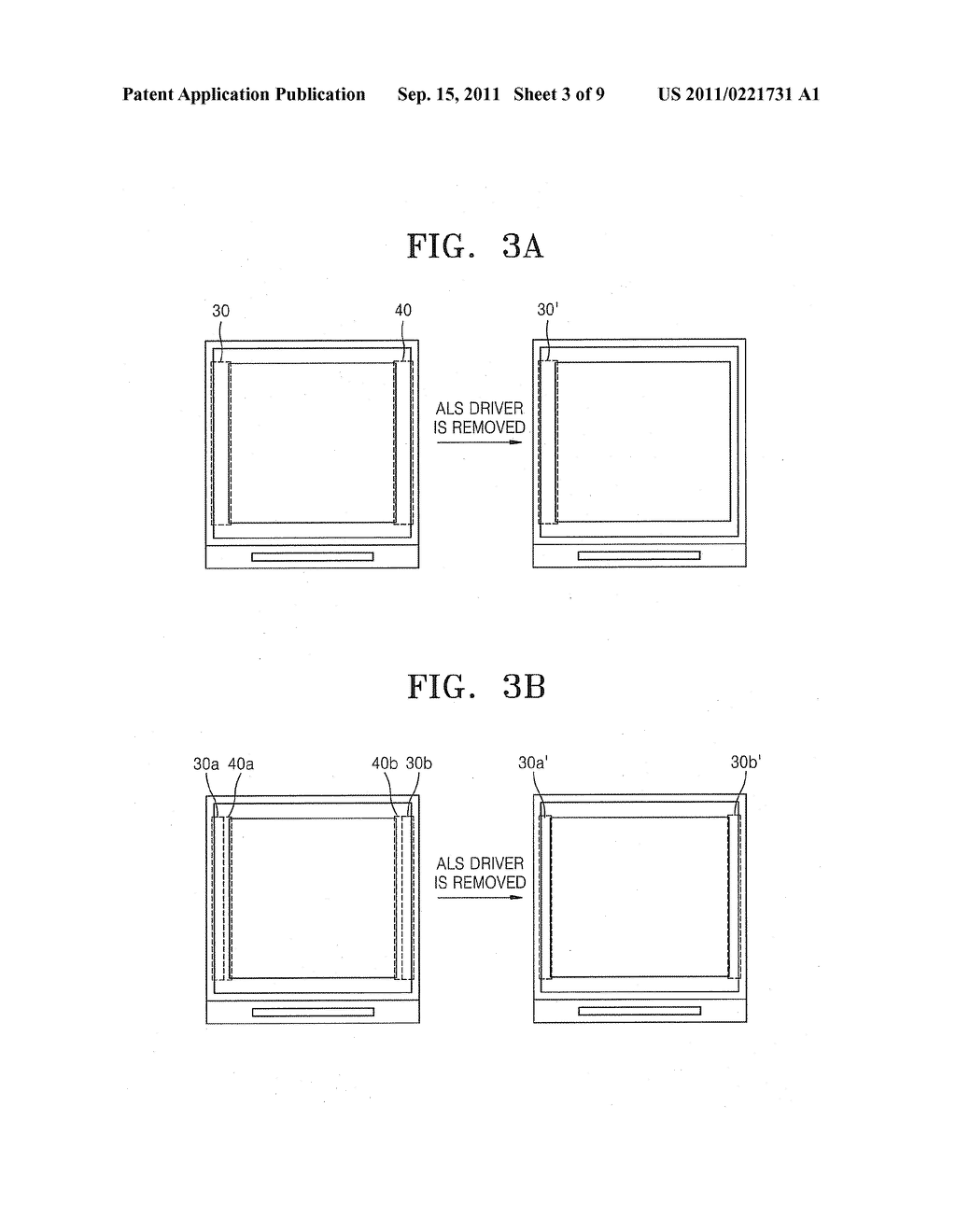 DISPLAY DEVICE HAVING INCREASED APERTURE RATIO - diagram, schematic, and image 04