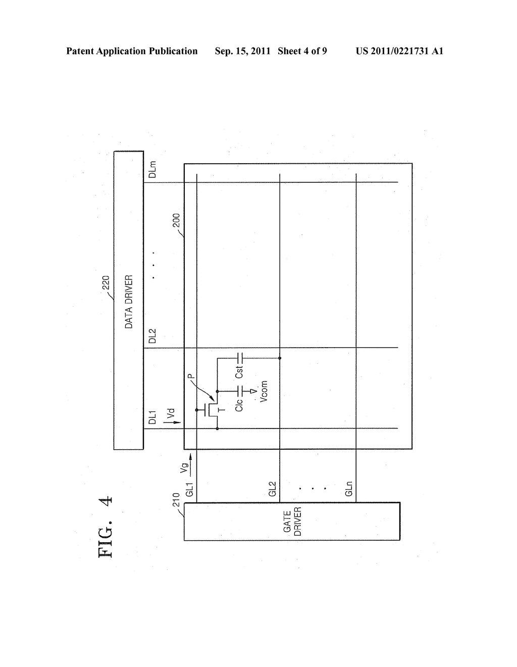 DISPLAY DEVICE HAVING INCREASED APERTURE RATIO - diagram, schematic, and image 05