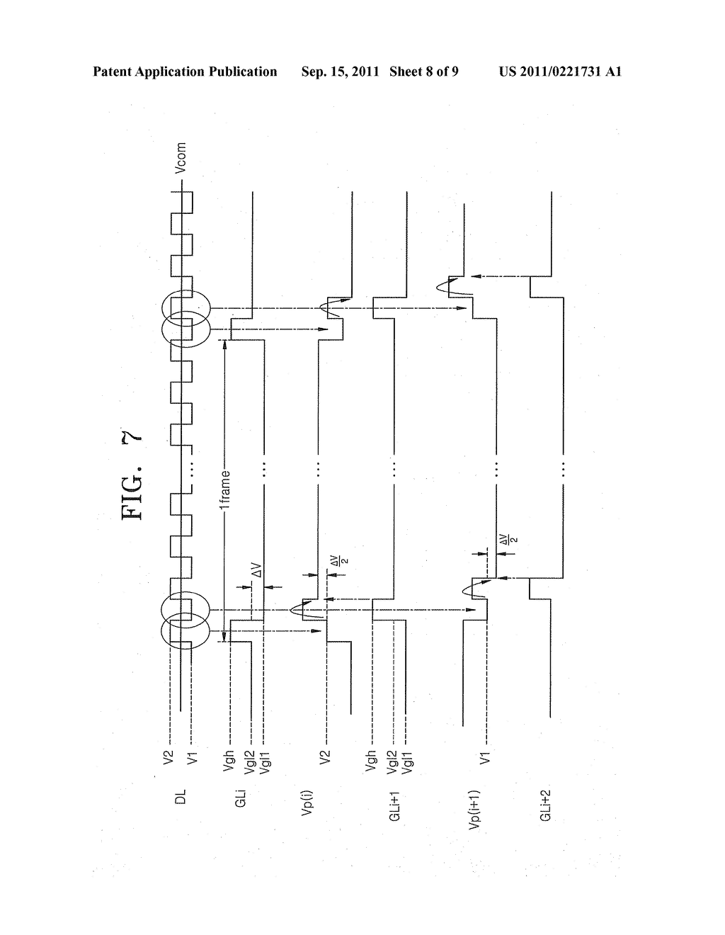 DISPLAY DEVICE HAVING INCREASED APERTURE RATIO - diagram, schematic, and image 09