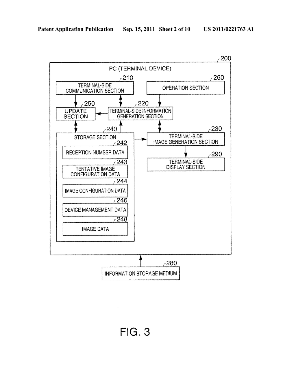 DISPLAY DEVICE, TERMINAL DEVICE, DISPLAY SYSTEM, DISPLAY METHOD, AND IMAGE     ALTERATION METHOD - diagram, schematic, and image 03