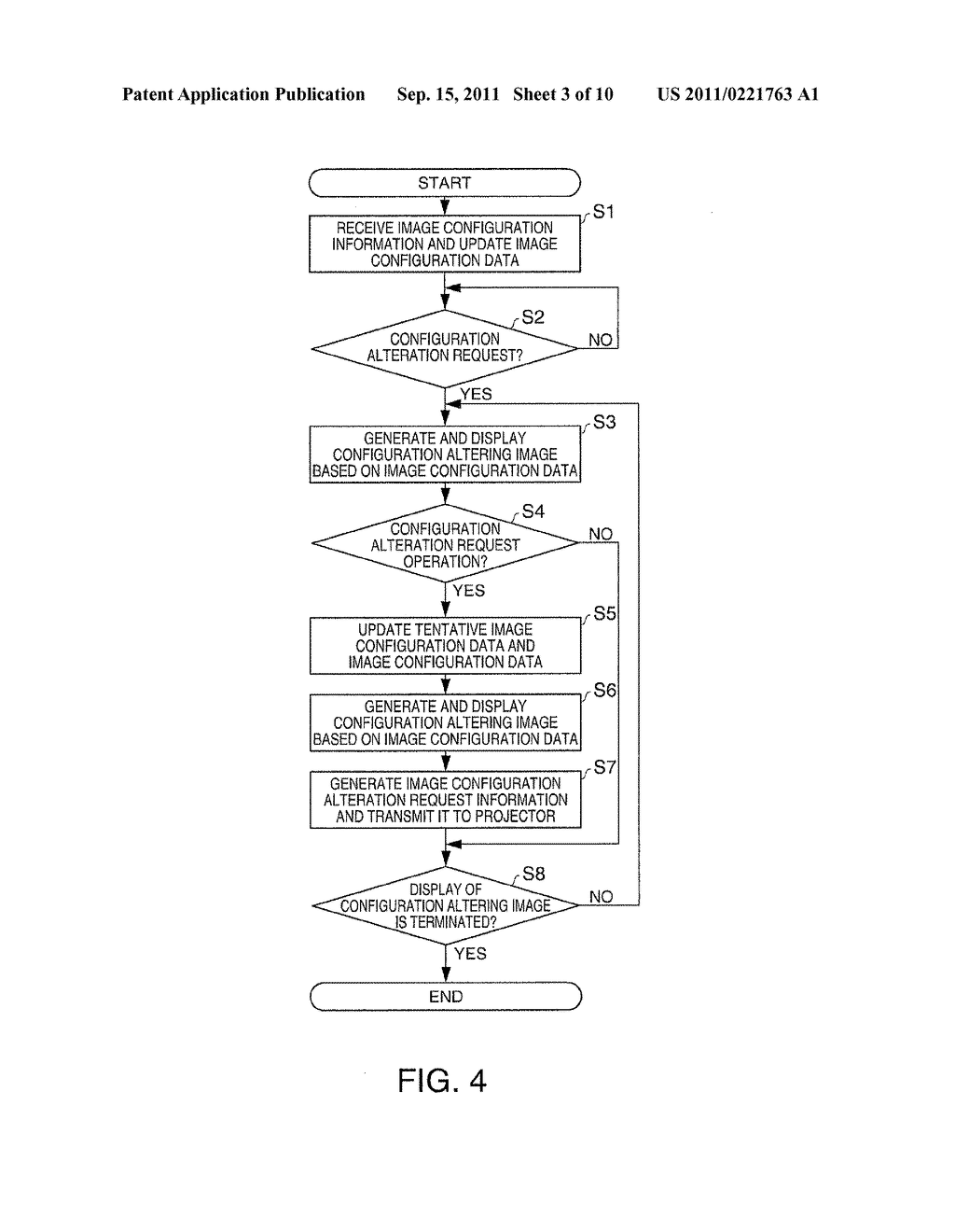 DISPLAY DEVICE, TERMINAL DEVICE, DISPLAY SYSTEM, DISPLAY METHOD, AND IMAGE     ALTERATION METHOD - diagram, schematic, and image 04