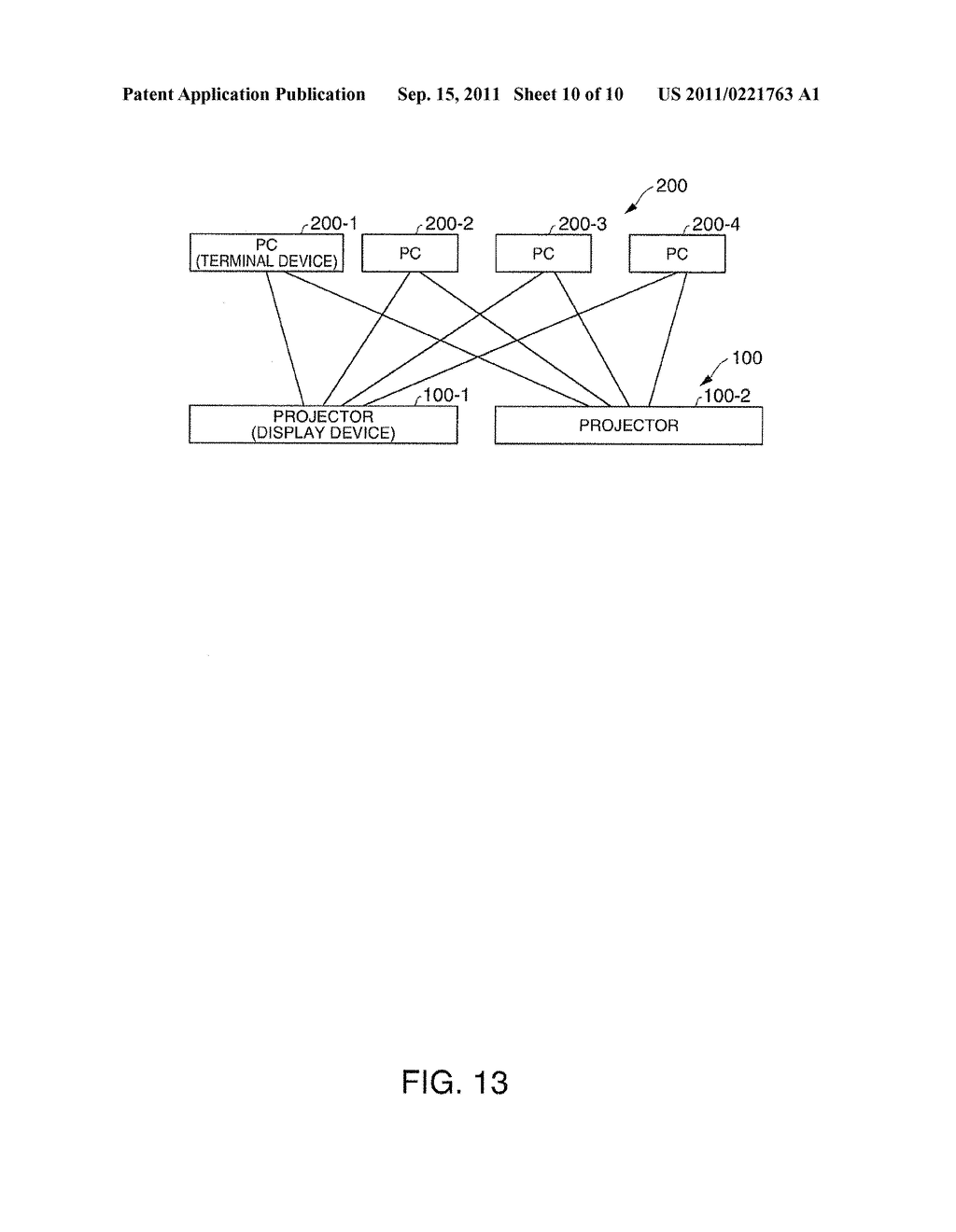 DISPLAY DEVICE, TERMINAL DEVICE, DISPLAY SYSTEM, DISPLAY METHOD, AND IMAGE     ALTERATION METHOD - diagram, schematic, and image 11
