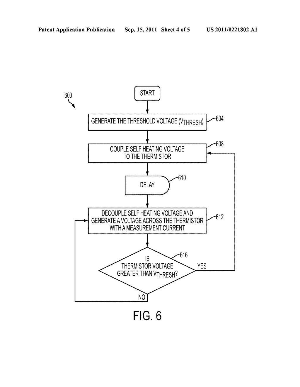 Apparatus And Method For Detecting Ink In A Reservoir Using An Overdriven     Thermistor And An Electrical Conductor Extending From The Thermistor - diagram, schematic, and image 05
