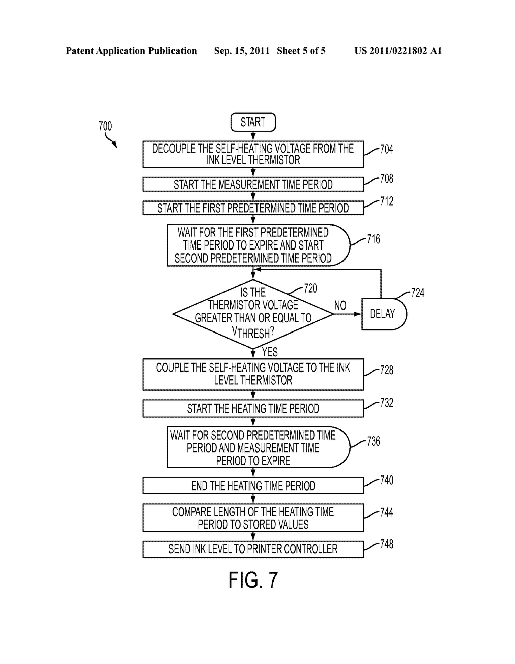 Apparatus And Method For Detecting Ink In A Reservoir Using An Overdriven     Thermistor And An Electrical Conductor Extending From The Thermistor - diagram, schematic, and image 06