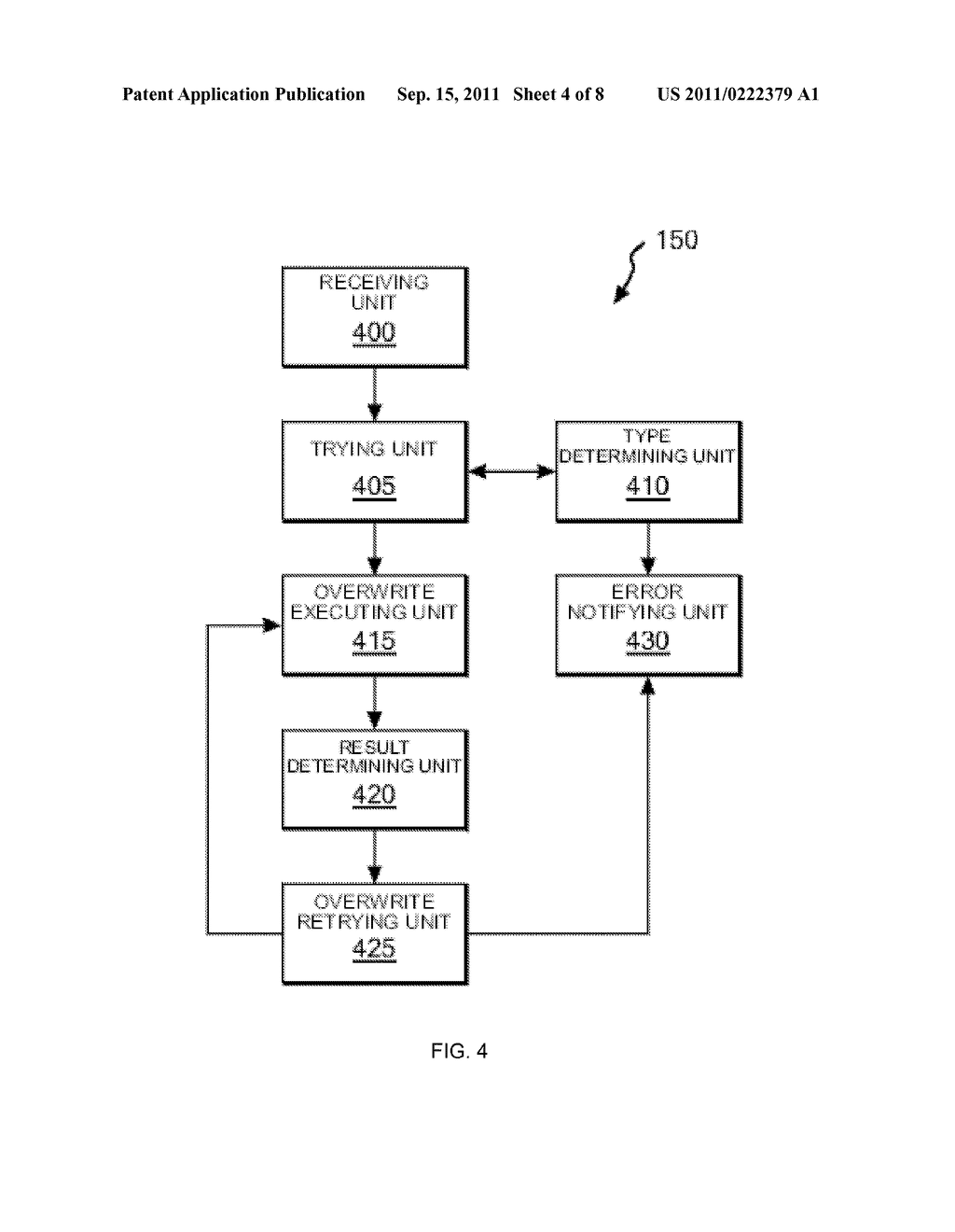 METHOD FOR CONTROLLING OVERWRITING OF DATA BY TAPE RECORDING APPARATUS ,     PROGRAM FOR CONTROLLING OVERWRITING , AND TAPE RECORDING APPARATUS - diagram, schematic, and image 05