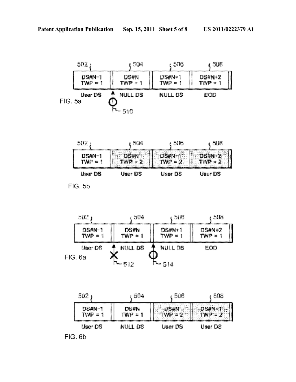METHOD FOR CONTROLLING OVERWRITING OF DATA BY TAPE RECORDING APPARATUS ,     PROGRAM FOR CONTROLLING OVERWRITING , AND TAPE RECORDING APPARATUS - diagram, schematic, and image 06