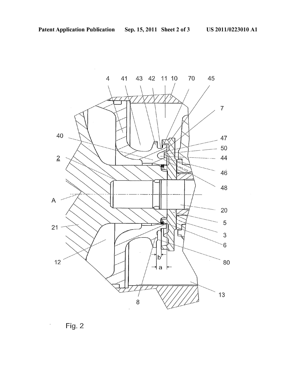 Device For Sealing A Bearing Housing Of An Exhaust Gas Turbocharger Diagram Schematic And Image 03