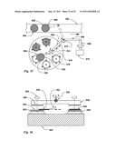 Fixed-spindle and floating-platen abrasive system using spherical mounts diagram and image