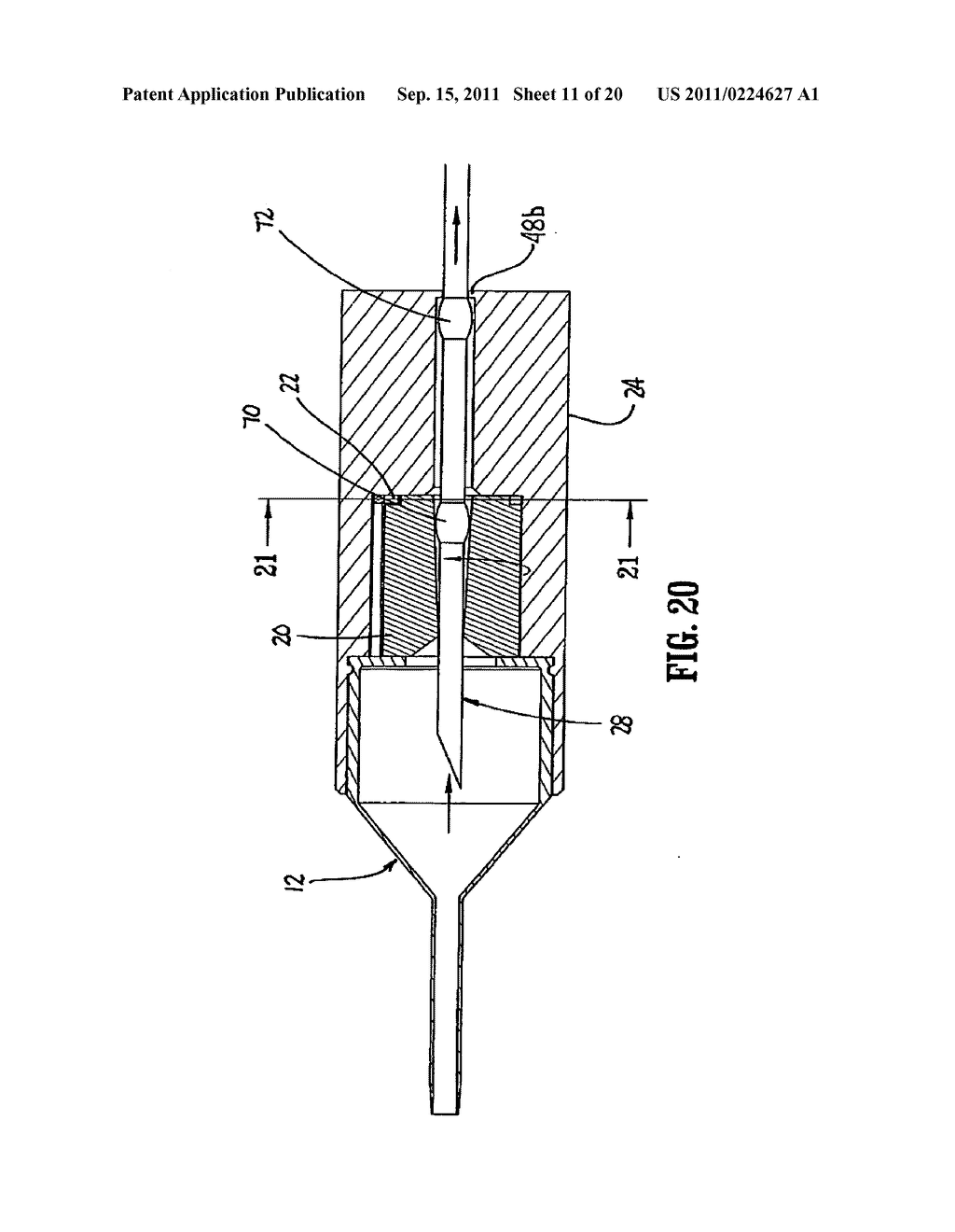 I.V. Catheter Assembly and Needle Safety Device - diagram ...