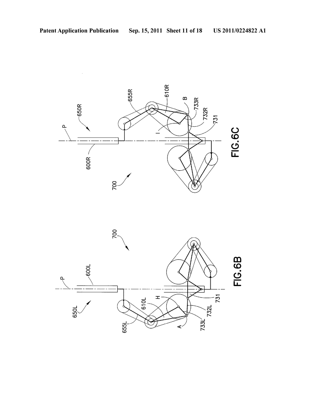 SUBSTRATE TRANSPORT APPARATUS WITH MULTIPLE INDEPENDENTLY MOVABLE     ARTICULATED ARMS - diagram, schematic, and image 12