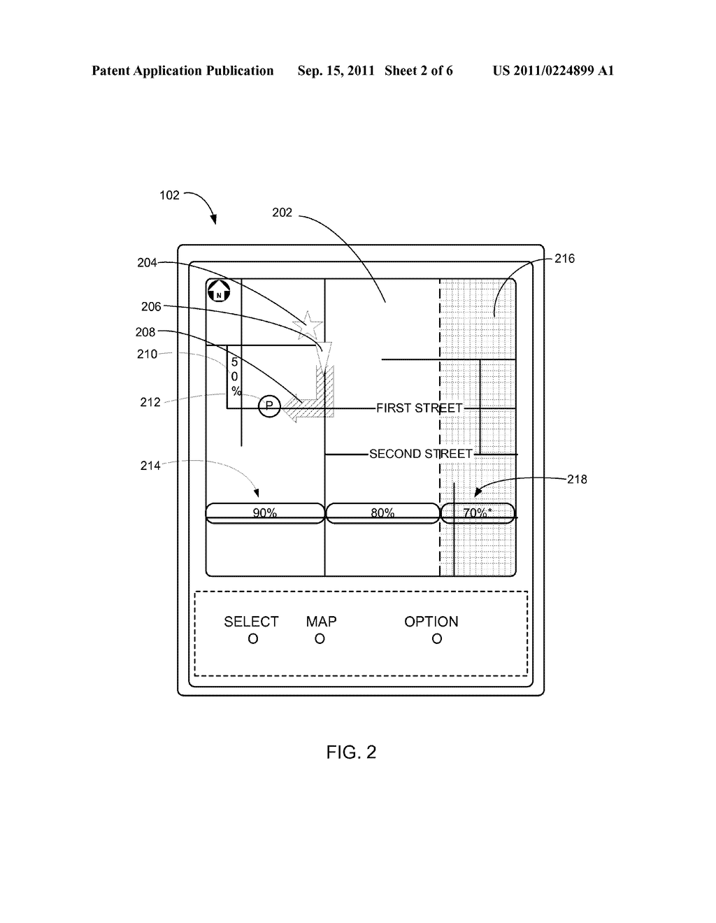 NAVIGATION SYSTEM WITH PARKING SPACE LOCATOR MECHANISM AND METHOD OF     OPERATION THEREOF - diagram, schematic, and image 03