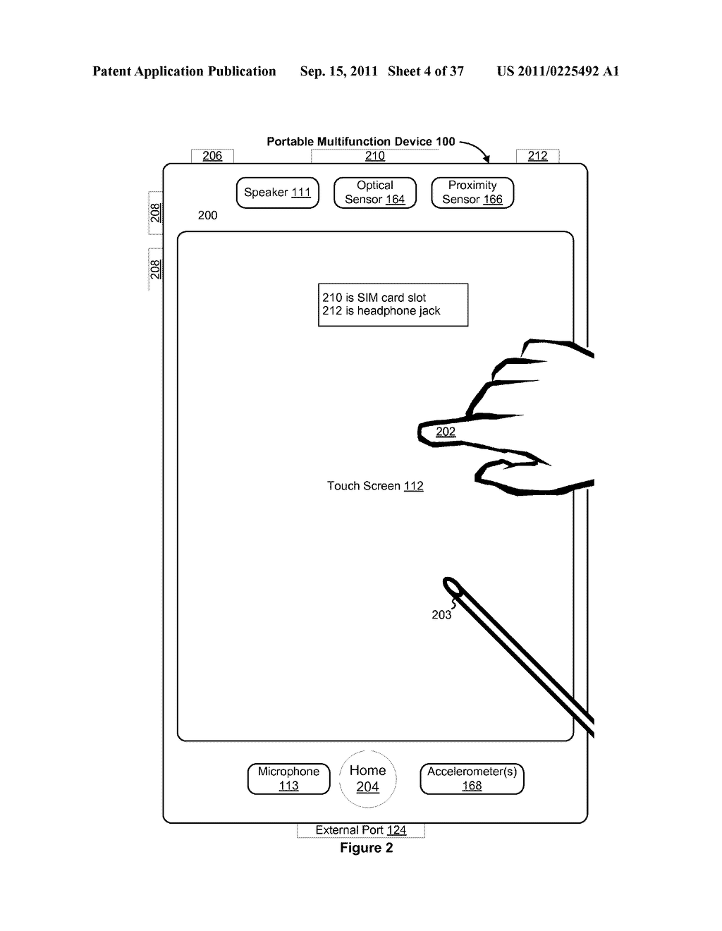 Device, Method, and Graphical User Interface for Marquee Scrolling within     a Display Area - diagram, schematic, and image 05