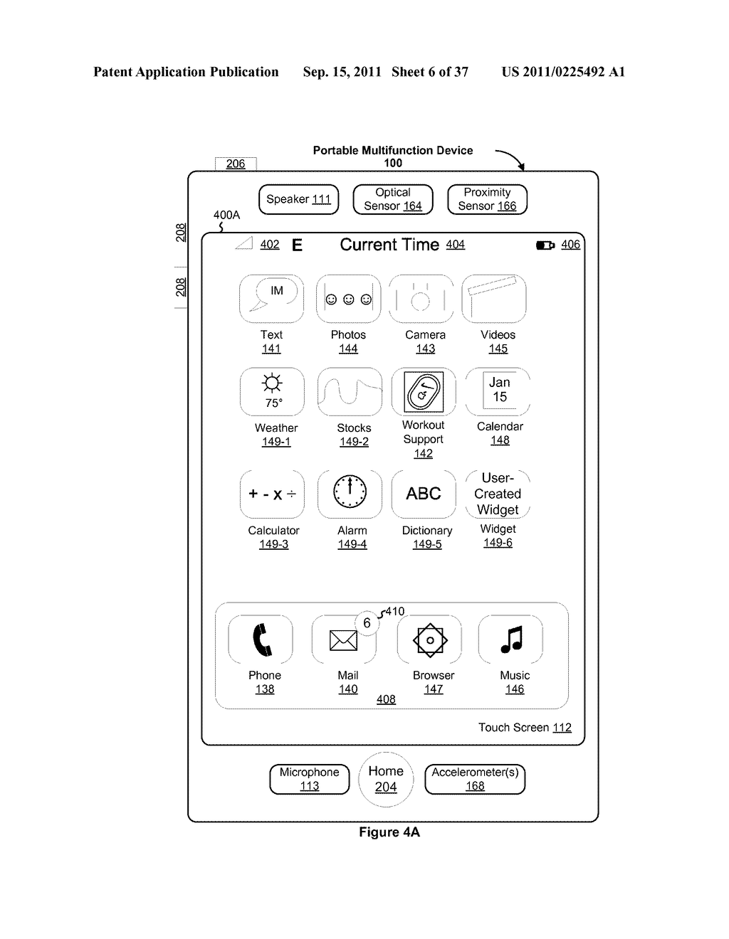 Device, Method, and Graphical User Interface for Marquee Scrolling within     a Display Area - diagram, schematic, and image 07