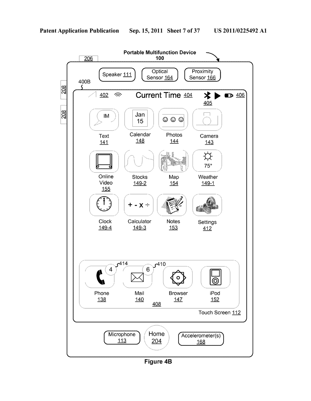 Device, Method, and Graphical User Interface for Marquee Scrolling within     a Display Area - diagram, schematic, and image 08