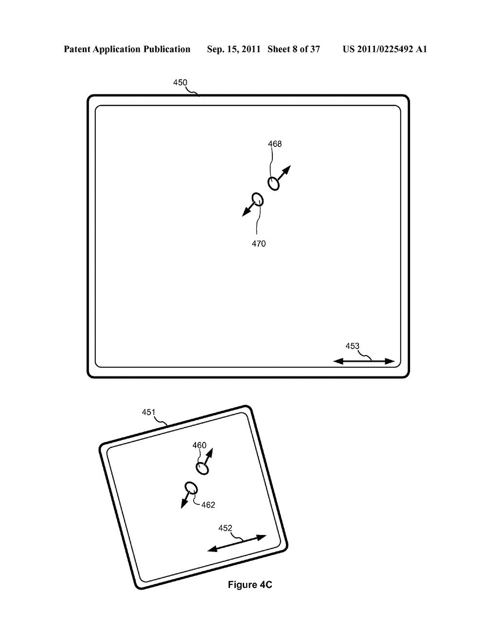 Device, Method, and Graphical User Interface for Marquee Scrolling within     a Display Area - diagram, schematic, and image 09