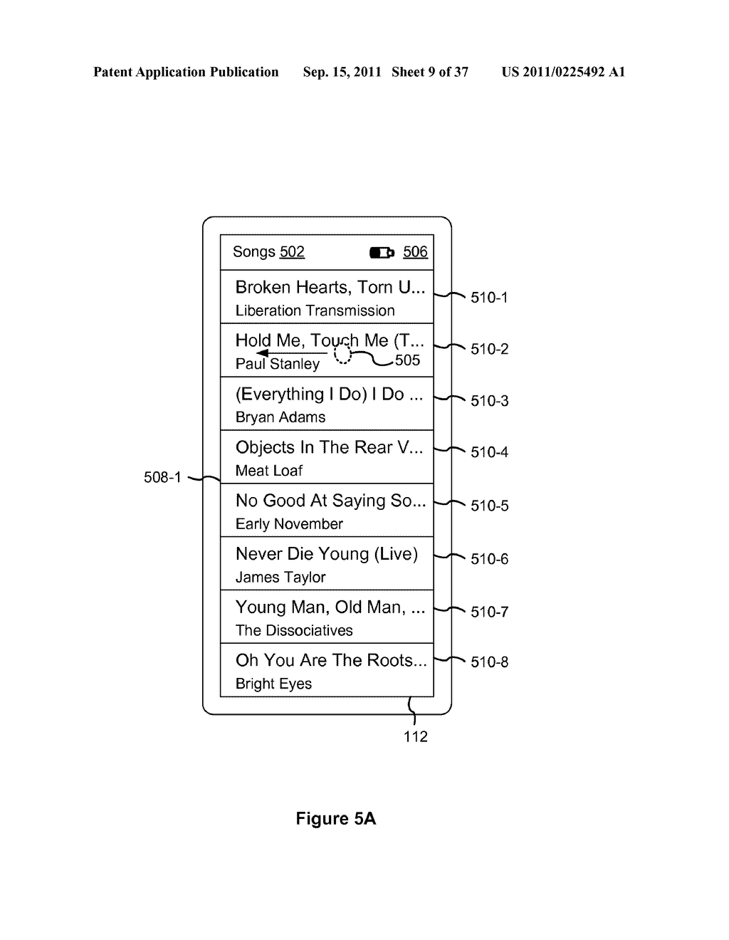 Device, Method, and Graphical User Interface for Marquee Scrolling within     a Display Area - diagram, schematic, and image 10