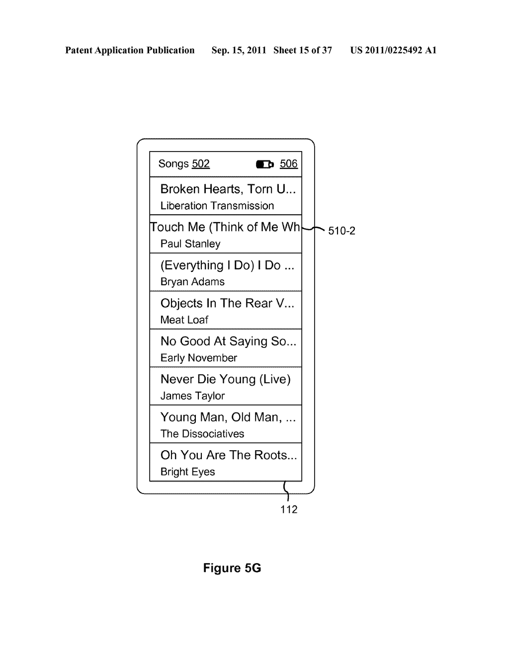 Device, Method, and Graphical User Interface for Marquee Scrolling within     a Display Area - diagram, schematic, and image 16