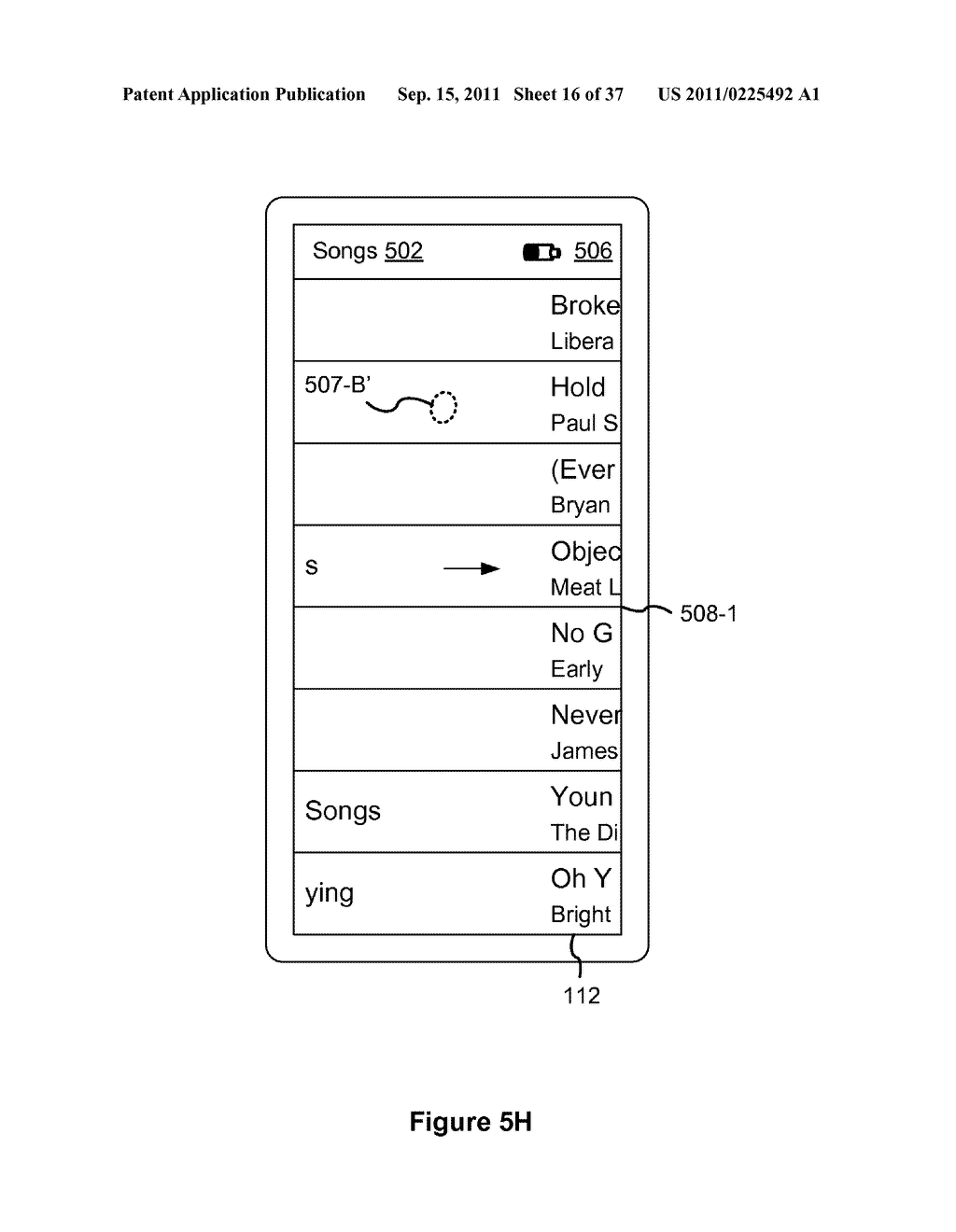 Device, Method, and Graphical User Interface for Marquee Scrolling within     a Display Area - diagram, schematic, and image 17
