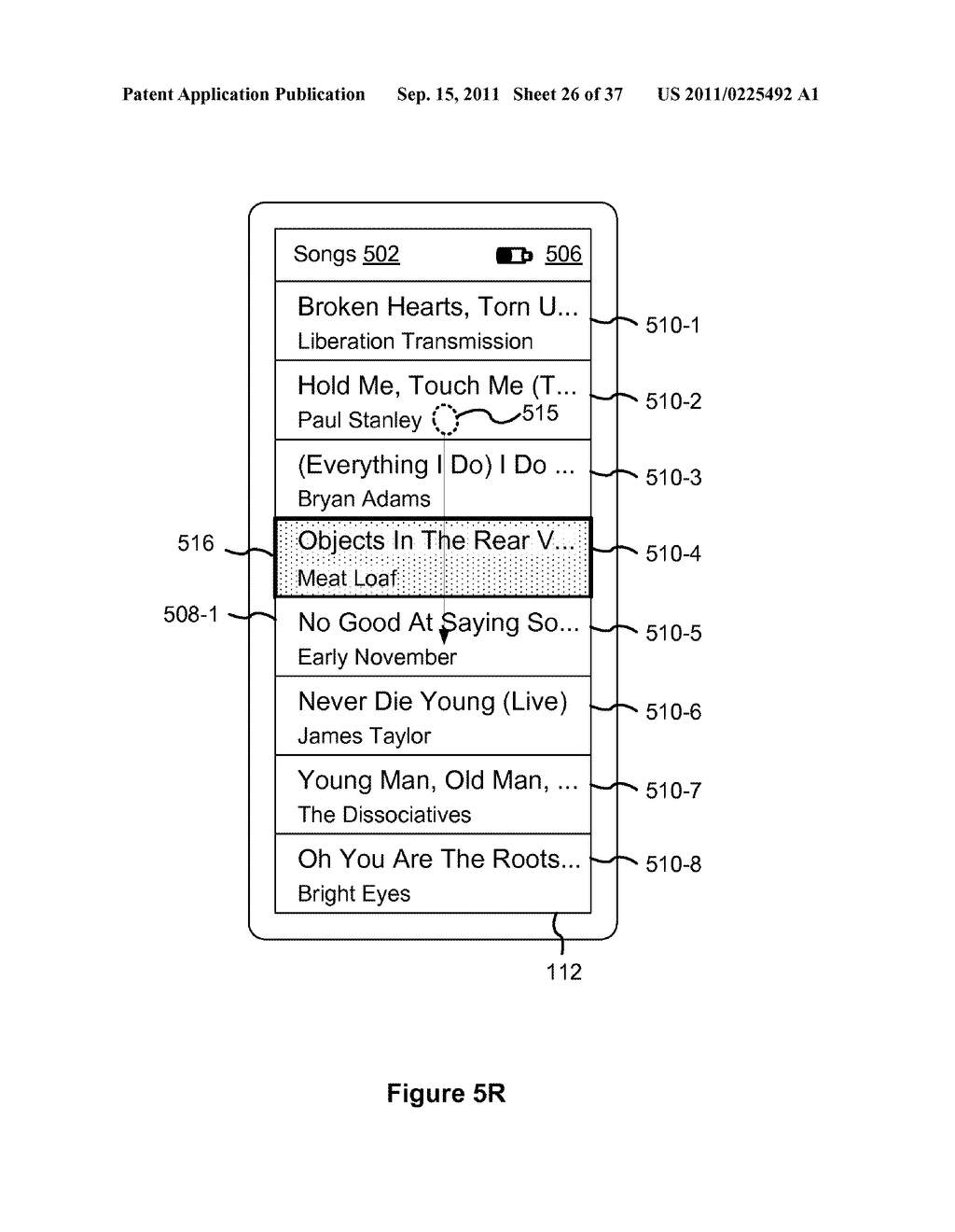 Device, Method, and Graphical User Interface for Marquee Scrolling within     a Display Area - diagram, schematic, and image 27