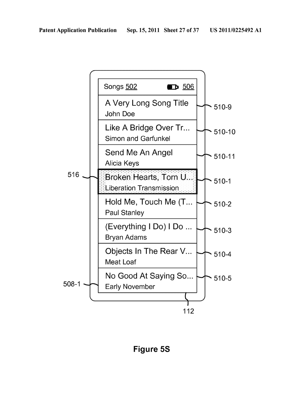 Device, Method, and Graphical User Interface for Marquee Scrolling within     a Display Area - diagram, schematic, and image 28